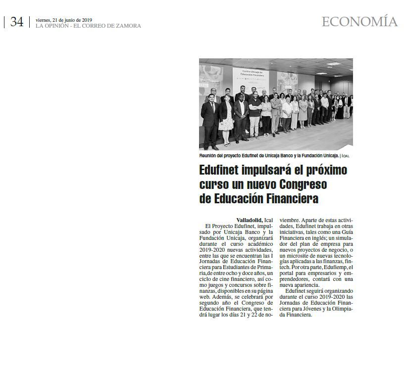 El Proyecto Edufinet Del Grupo Unicaja Celebra Su Reunión Anual